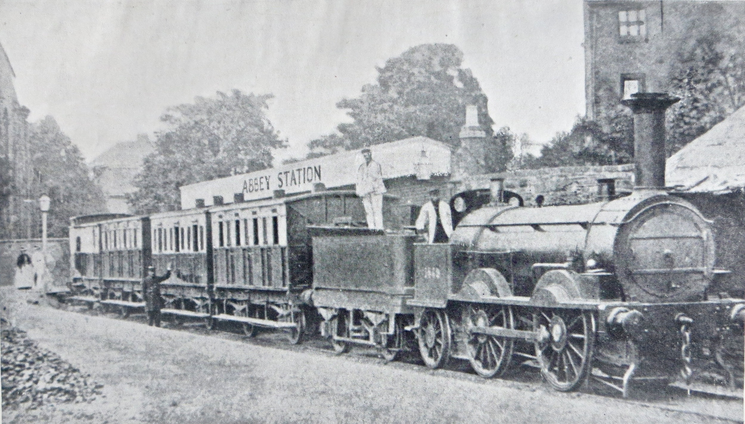 Shrewsbury Abbey Railway station circa 1872
