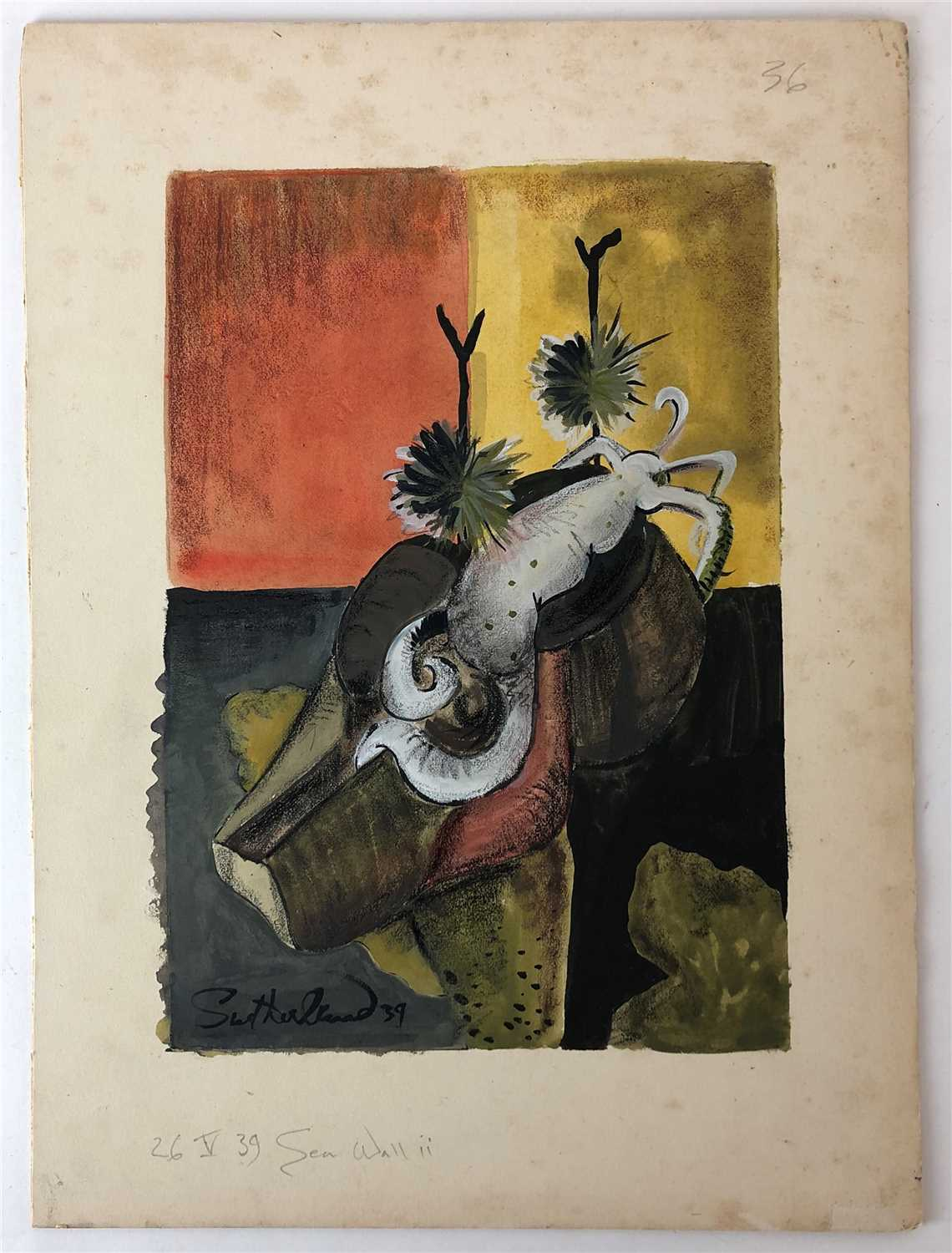 Graham Sutherland's 'Sea Wall II'