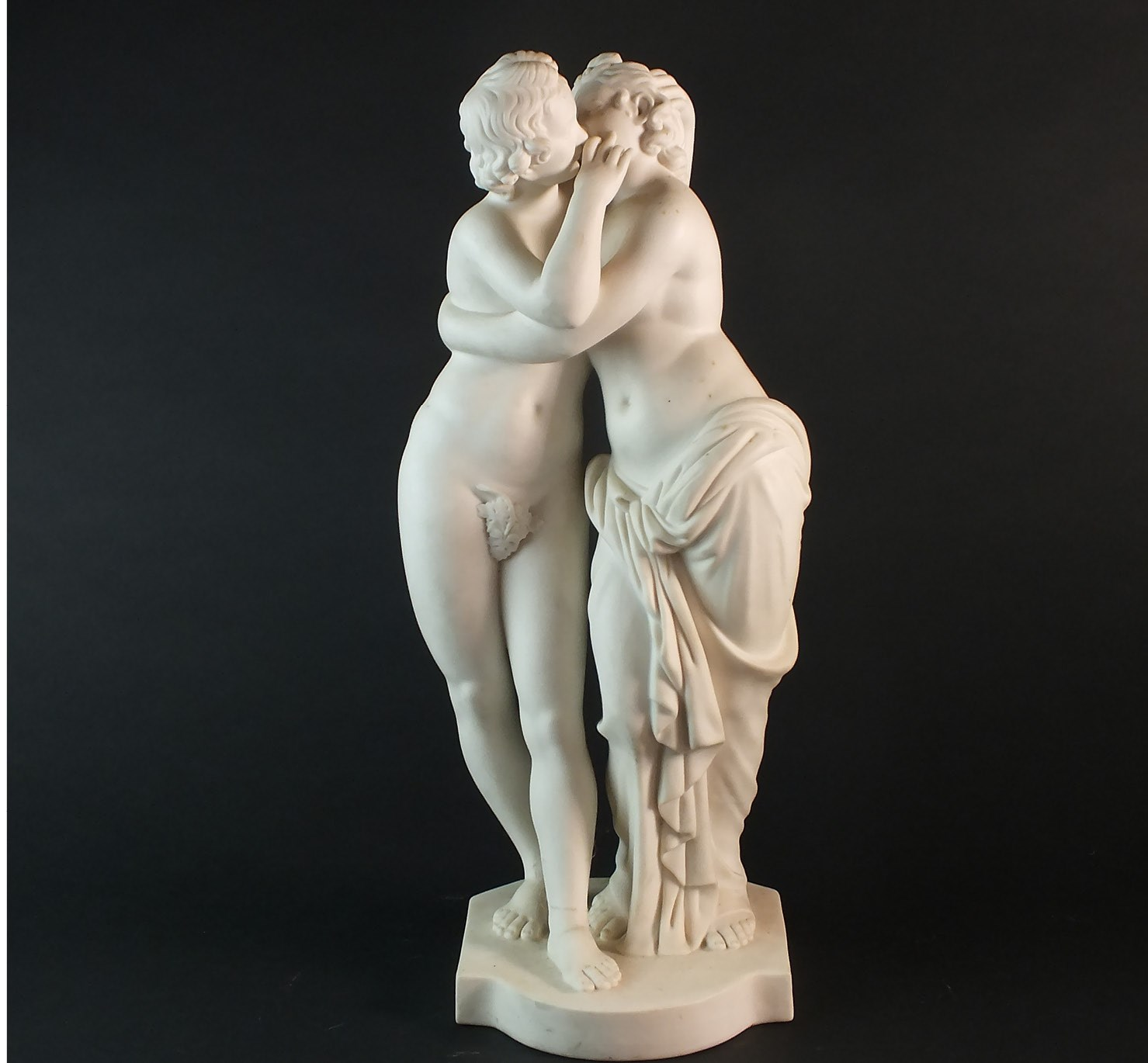 Minton figural group of Cupid and Psyche
