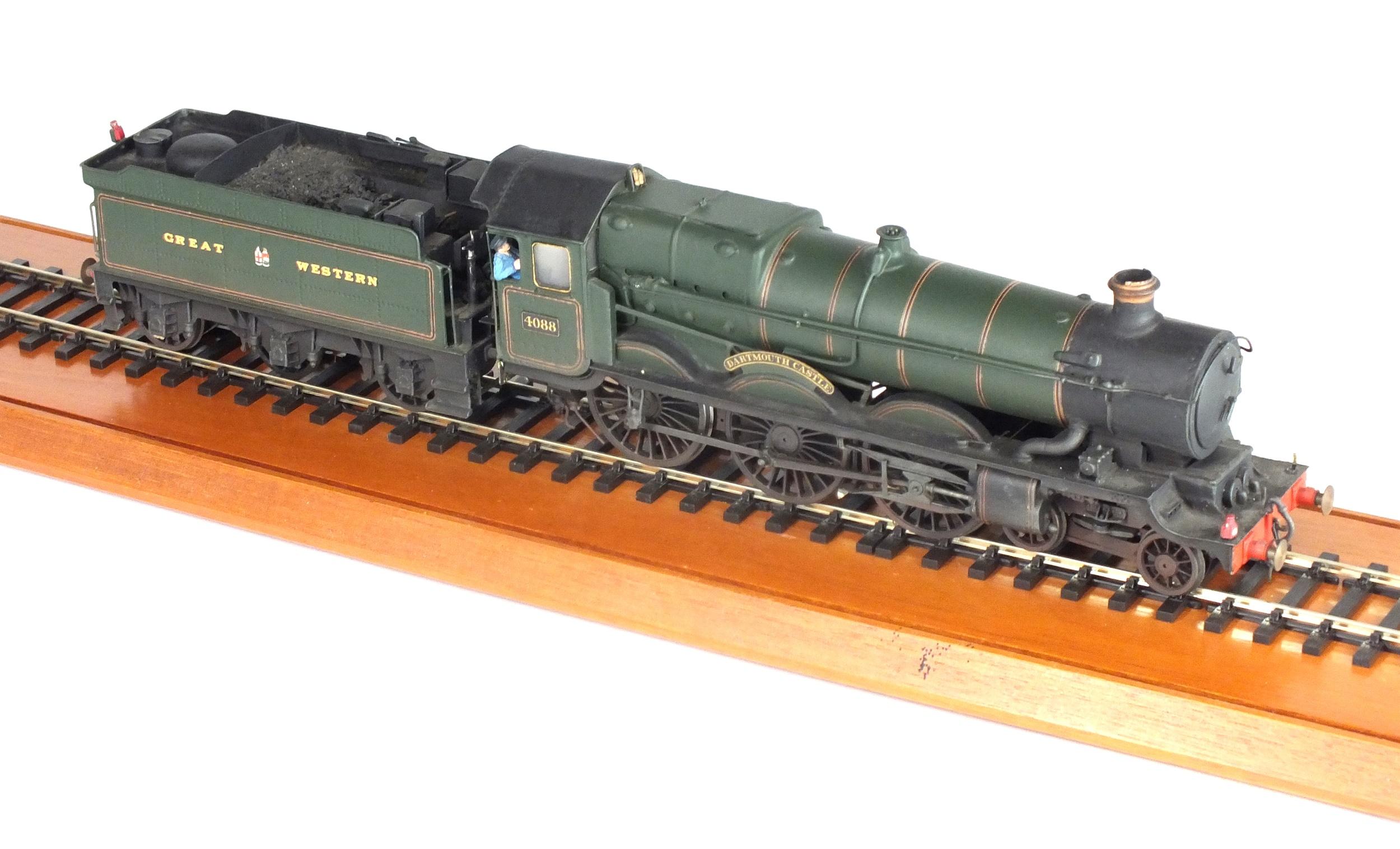 A good O-gauge scratch-built model of the steam locomotive, GWR, 'Dartmouth Castle'