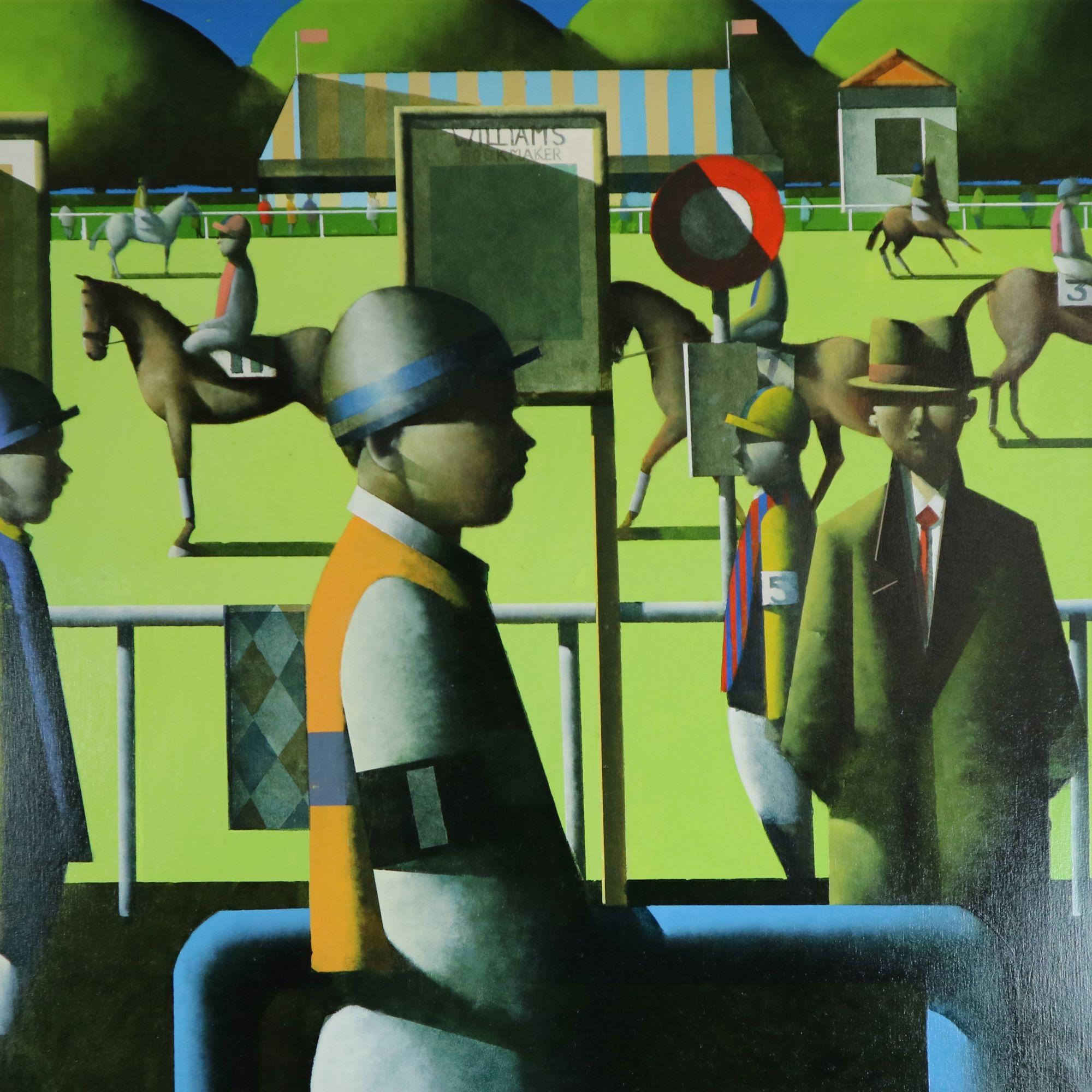 Stephen Mangan (Scottish b.1964) Jockey, oil on canvas, 2004