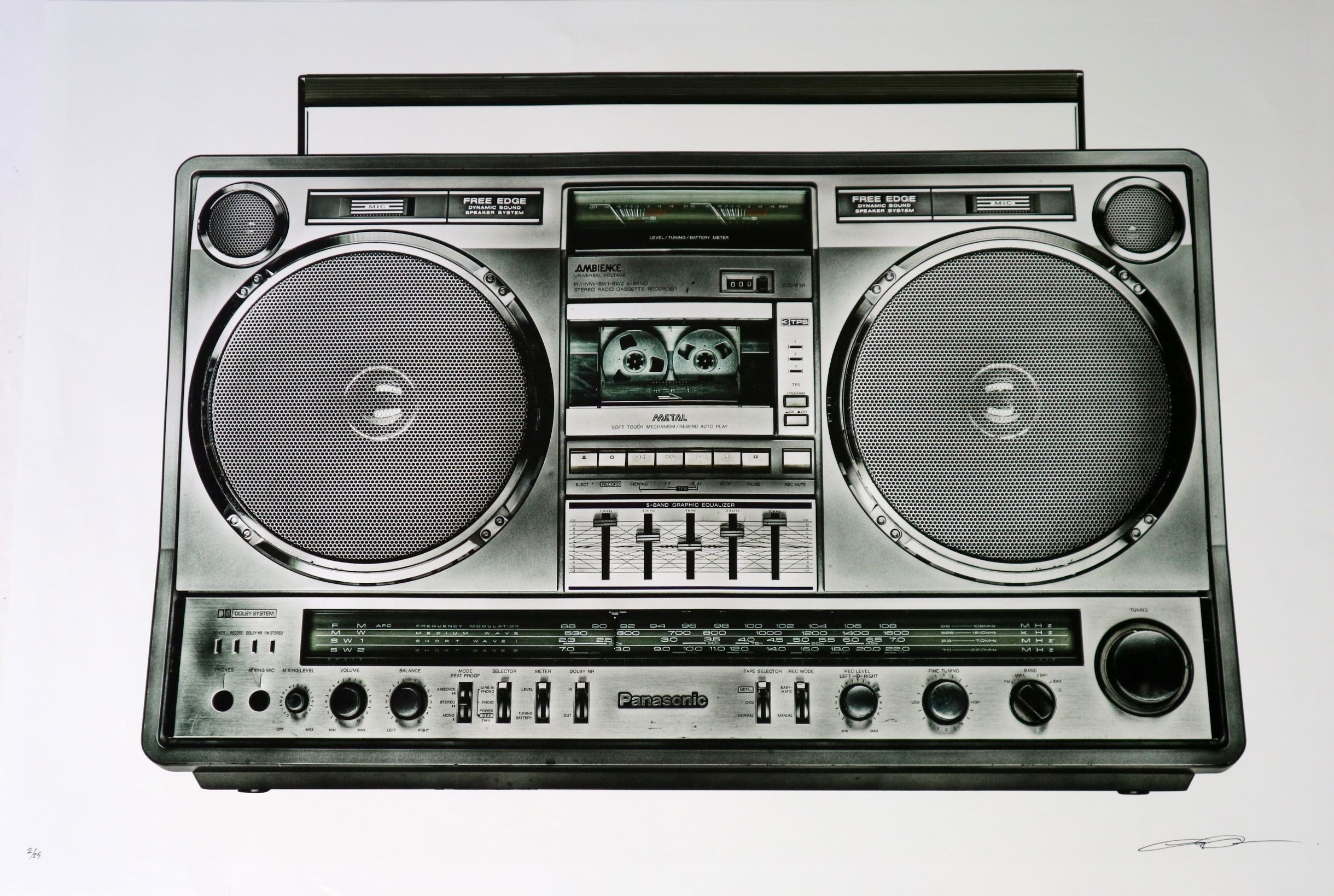 Lyle Owerko (Canadian Contemporary) Boombox - 26, Fine Art pigment print on archival smooth pearl paper, signed pen bottom right