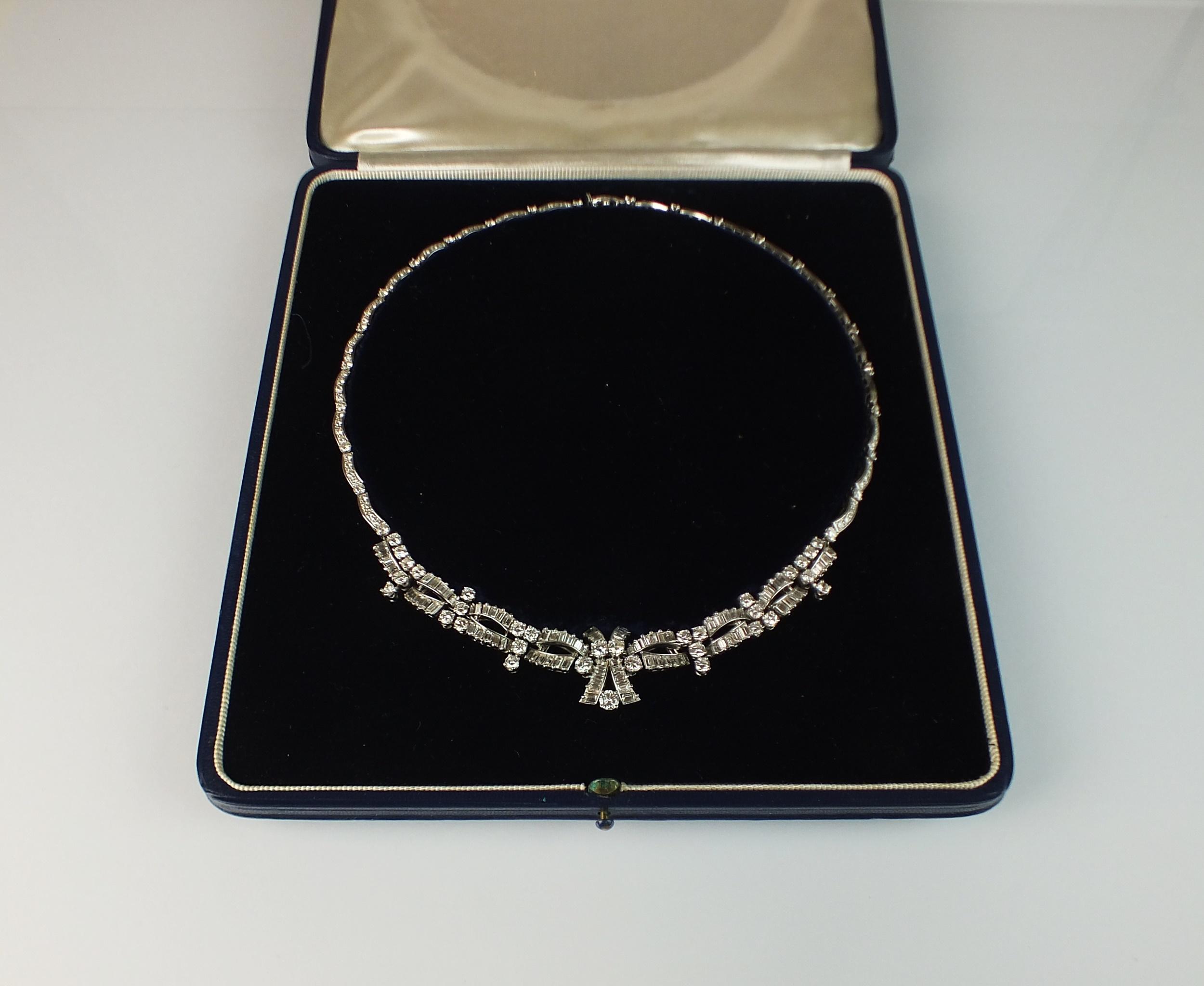 diamond necklace Halls Fine Art