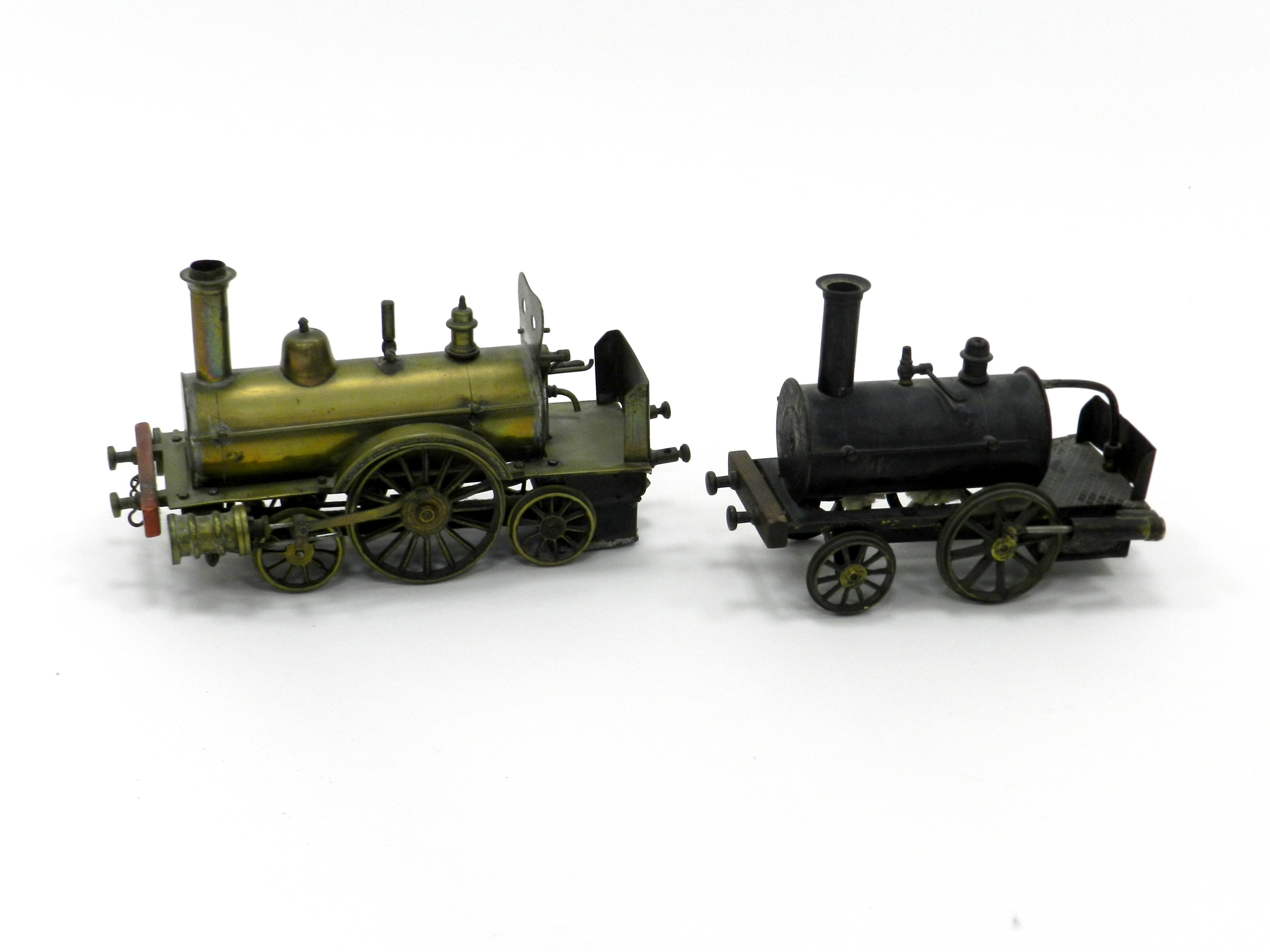 early 20th century brass steam model locomotive