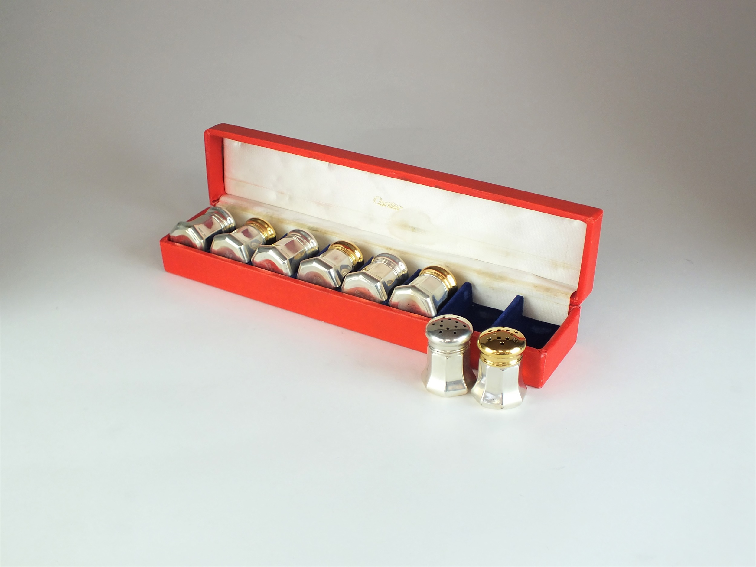 Cartier silver and gilt salt and pepper shakers