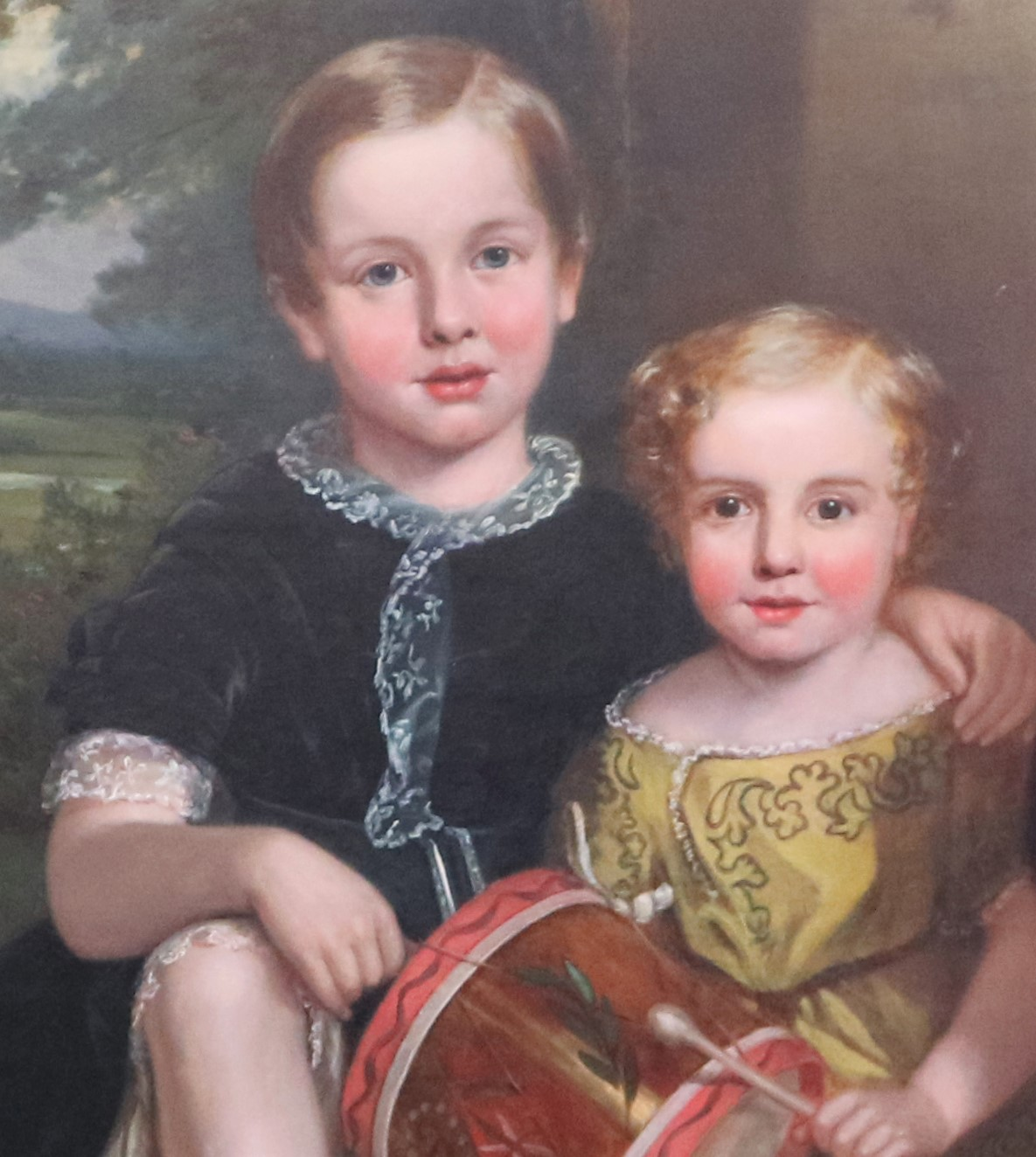 Firmstone children depicted in the family portrait shown attributed to Harry Spurrier Parkman