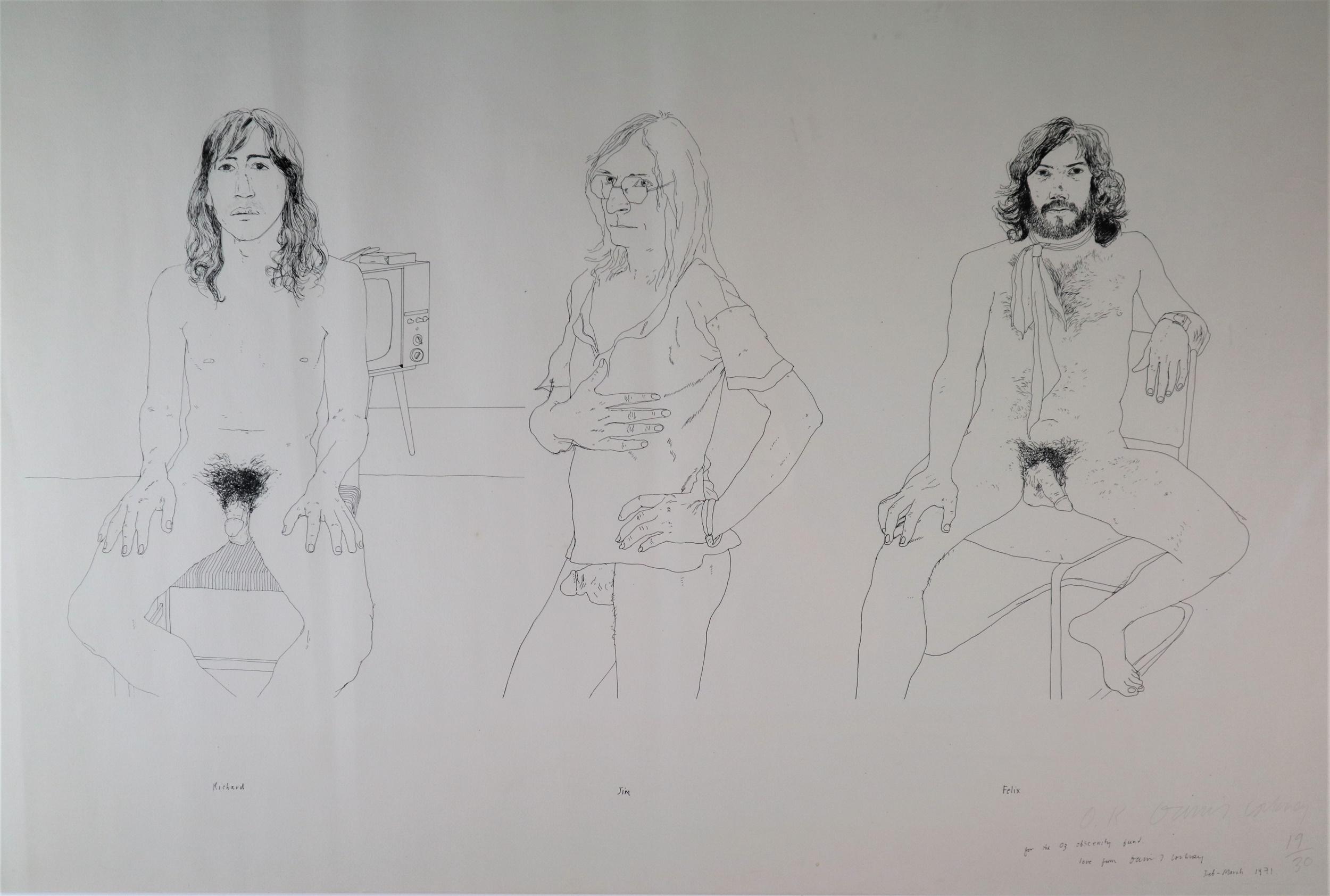 David Hockney Oz Obscenity Fund