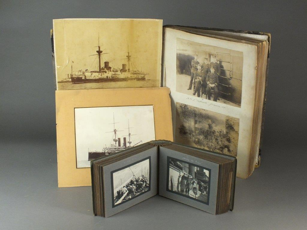 Photograph albums record of travels HMS Inflexible HMS Terpsichore