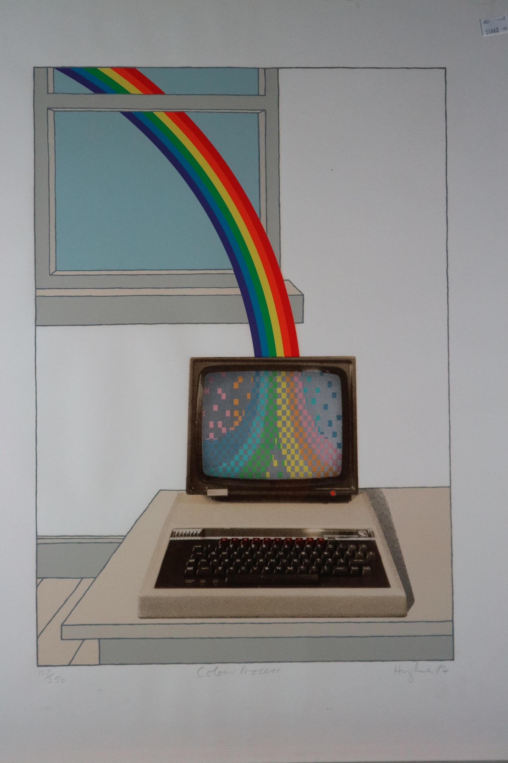 Patrick Hughes (British Contemporary) Colour Process, screenprint