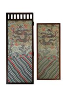 149 - Two Chinese Embroidered Panels in Liberty Frames