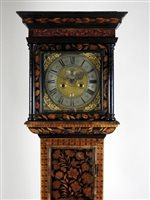 198 - An early 18th century walnut and marquetry...