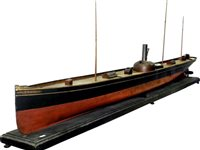 154 - 1/28 Live Steam Victorian Hydrodynamic Test Model of the SS Clansman of the Northern Steamship Company, Aukland, New Zealand