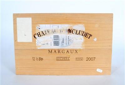 Lot 18-Chateau D'Angludet 2007 12 half bottles owc...