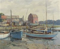 Lot 22-Jack Merriott (1901-1968), Lowering Tide Woodbridge