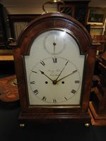 Lot 528-A regency mahogany bracket clock by Henry Favre Pall Mall