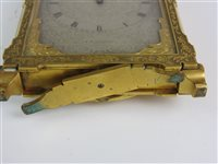 Image for A mid-19th century gilt brass strut timepiece