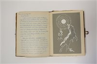 Lot 20-GERMAN ILLUSTRATED Commonplace Book