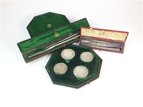 246 - A cased set of early Victorian Rowing medals