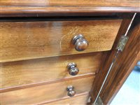 Lot 570-A pair of Victorian walnut Wellington chests 19th century