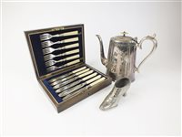 Lot 29-A collection of silver plate and pewter