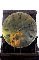 Lot 715-A George III cross banded oak cased longcase clock