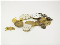 Lot 19-A quantity of watch movements