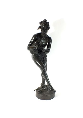 Lot 181 - Tillmani. A bronze figure of Pan 19th/20th century