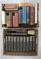 Lot 15-LOCKHART, J G, Life of Sir Walter Scott, 10 volumes 1902-03, with other books