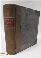 Lot 28-LETTER COPYING BOOK 1909-11