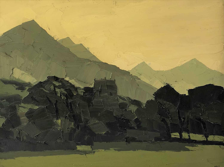 745 - Kyffin Williams, Clynnog, oil on canvas