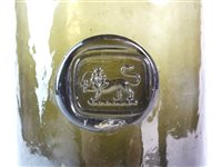 Lot 4-A cylindrical wine bottle with seal for David Pugh, Welshpool