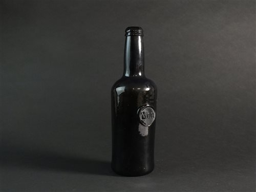 Lot 17-An English sealed cylindrical wine bottle
