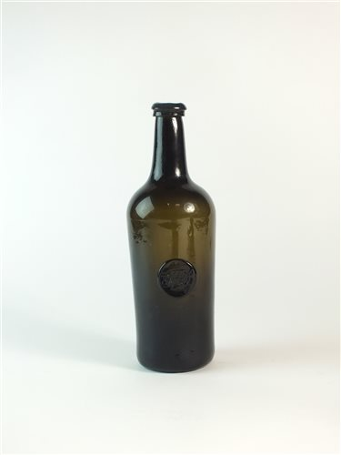 Lot 16-An English 18th century sealed wine bottle