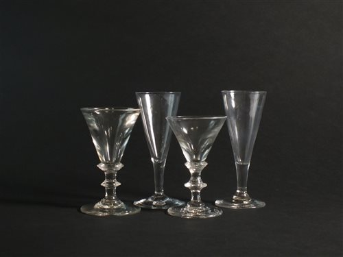 Lot 20-Four 18th century glasses