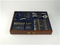 Lot 122-A canteen of silver plated cutlery