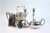 Lot 8-A collection of silver plated items