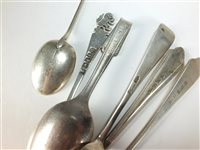 Lot 28-A collection of silver flatware