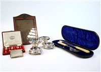 Lot 6-A collection of silver and plate