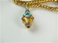 Lot 104 - An early Victorian gem set snake necklace