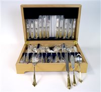Lot 2-A Davenport and Sullivan cased canteen of silver plated cutlery
