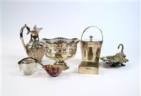 Lot 10-A collection of silver plated wares