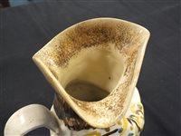 Lot 28-A Leeds creamware toby jug