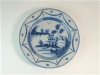 Lot 34-An 18th century London delft plate