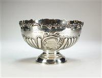 Lot 59-A silver pedestal bowl