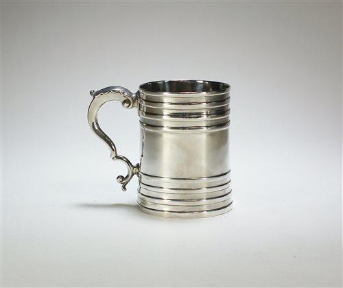 Lot 15-A George III silver mug