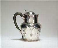 Lot 60-A silver hot water jug