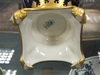 Lot 37-A Coalport twin-handled vase and cover