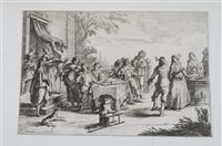 Lot 60-Jan Baptist de Wael, engraving