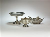 Lot 6-A silver pedestal bowl