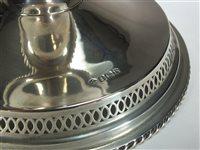 Lot 6-A silver pedestal bowl